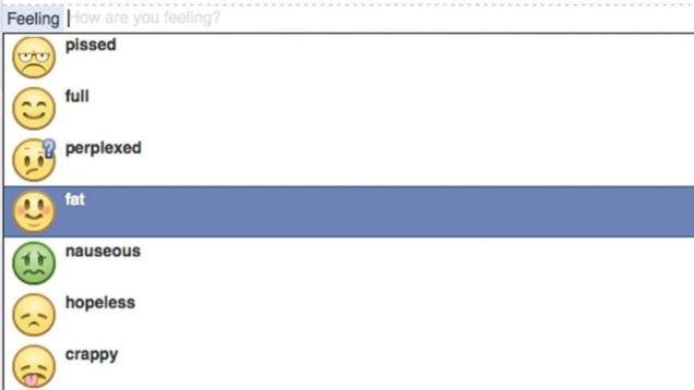 Facebook запретила статус «ощущаю себя толстым» . Изображение № 1.