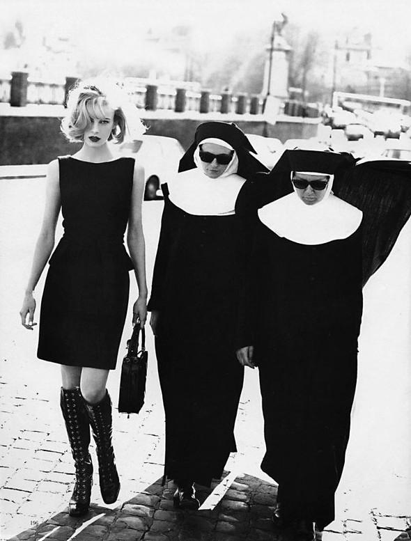 Архивная съёмка: Эмма Балфор для Marie Claire, 1995. Изображение № 4.