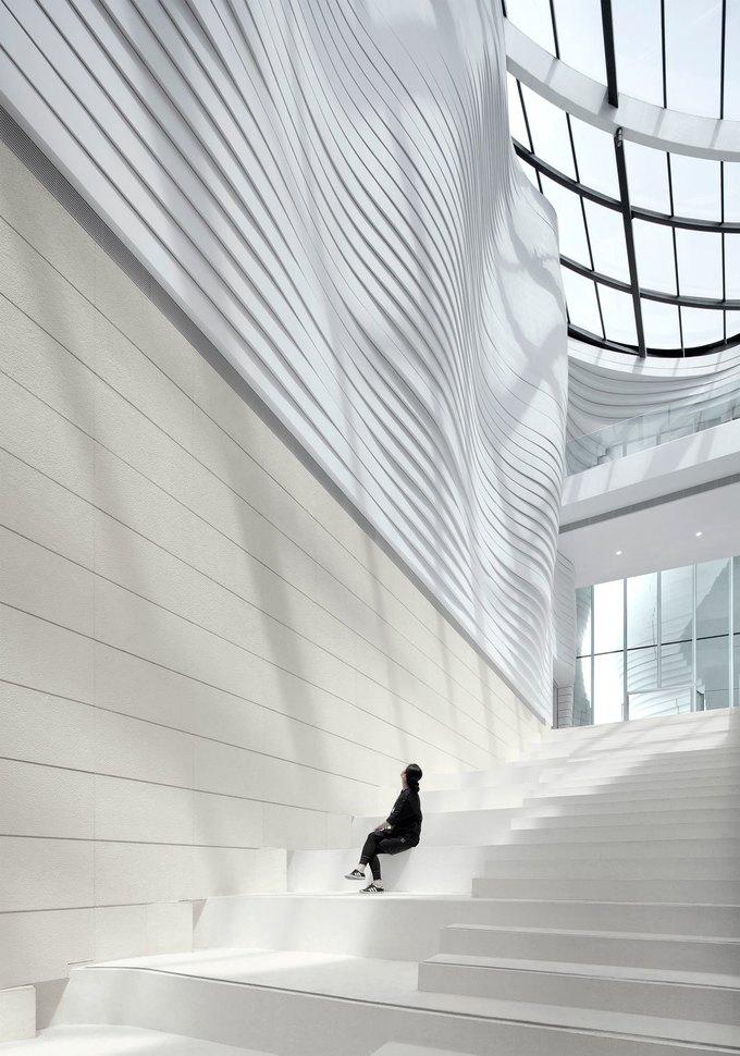 Архитектура дня: музей в Китае сбелым «слоёным» фасадом. Изображение № 13.