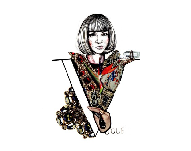 LAGERFELD VS WINTOUR by Gala Syslova. Изображение № 2.