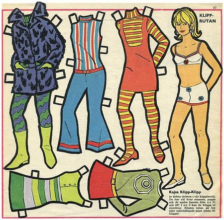 Бумажные куклы 1960-х годов!. Изображение № 6.