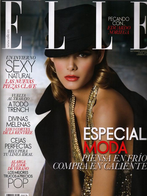 Flavia de Oliveira in Elle Spain September 2009. Изображение № 1.
