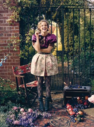 Emma Watson дляTeen Vogue August 2009. Изображение № 4.