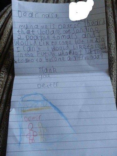 7-летний мальчик написал в NASA и получил ответ. Изображение № 1.