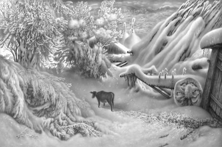 Нарисованный снег, который можно потрогать. Изображение № 1.