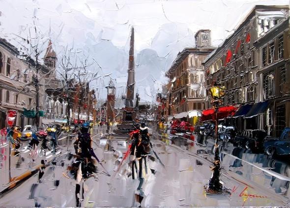 Красные зонтики художника Kal Gajoum. Изображение № 18.