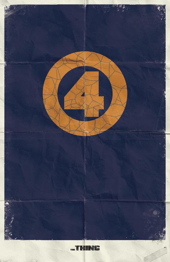 Минималистичные постеры для Marvel Comics. Изображение № 9.