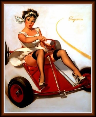 Изображение 11. Pin up girls love cars, airplans and motorcycles.. Изображение № 11.