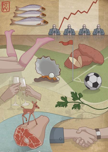 Красивое изабавное виллюстрациях Richarda Wilkinsona. Изображение № 20.