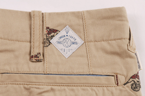 PAUL SMITH JEANS SS12 CYCLIST EMBROIDERED SHORTS. Изображение № 7.