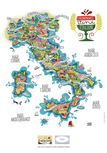 Винная карта Италии от Antoine Corbineau. Изображение № 1.