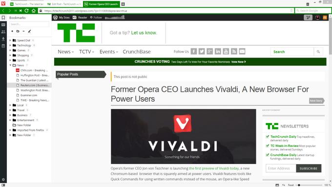 Бывший CEO Opera представил новый браузер Vivaldi. Изображение № 1.