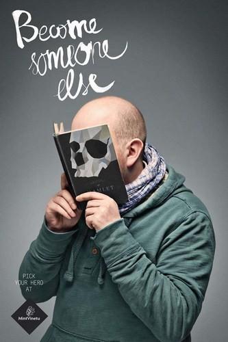 Изображение 2. Книжные обложки вместо лиц.. Изображение № 2.