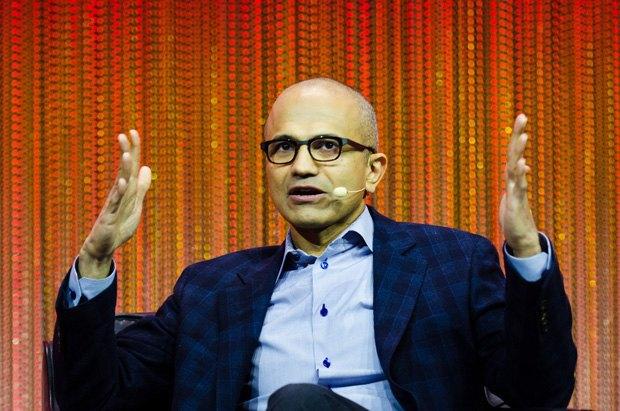 Генеральный директор Microsoft Сатья Наделла . Изображение № 1.