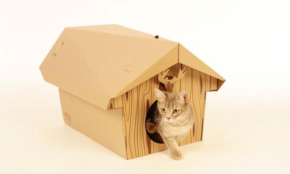 Кошачий домик из картона. Изображение № 6.