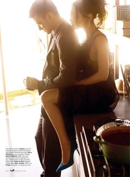 Съёмка: Мила Кунис и Джастин Тимберлейк для Elle. Изображение № 6.