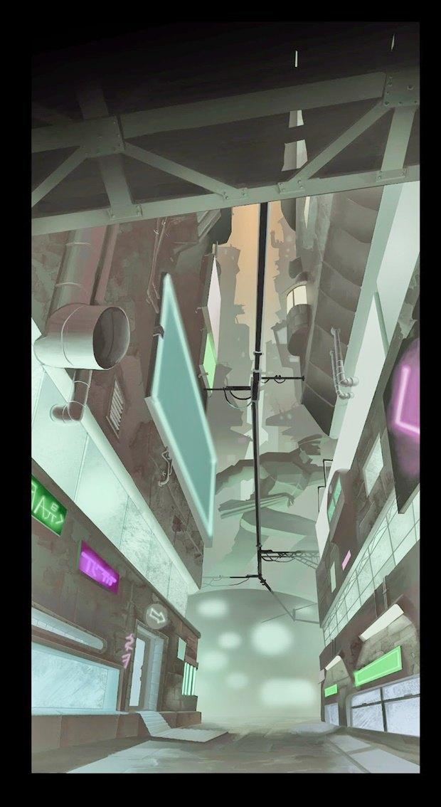 Анимация: бродяга спасает пса встимпанковском городе. Изображение № 33.