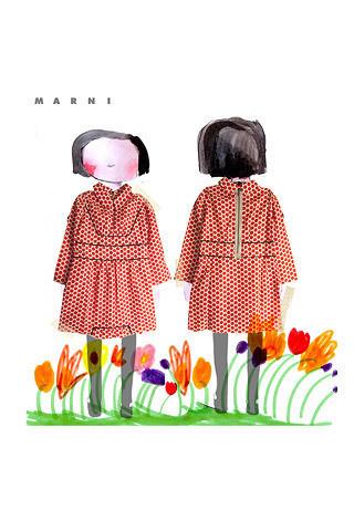 Скетч детской коллекции Marni. Изображение № 1.