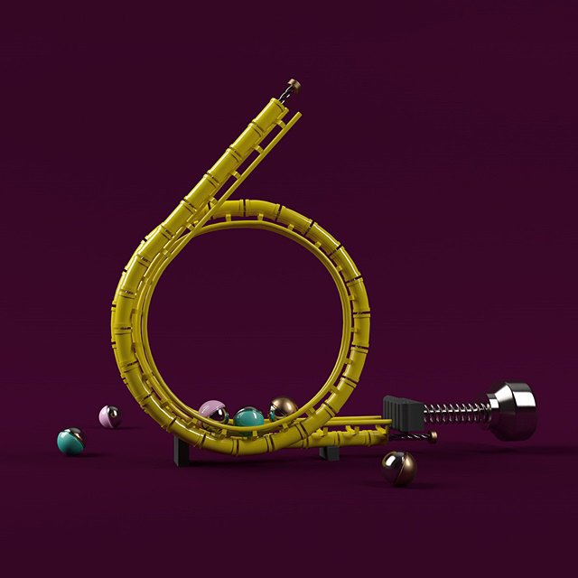 Дизайнер создал абстрактные объекты на основе цифр. Изображение № 7.