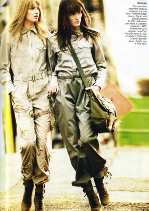 Изображение 8. Фотосессия в Vogue в стиле милитари.. Изображение № 8.