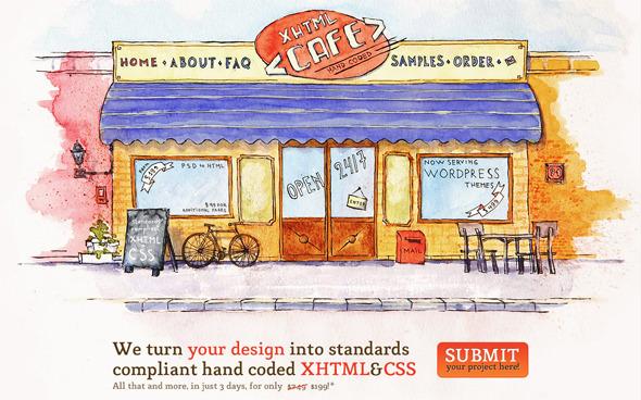 Ручная работа. Дизайн сайтов с рисованными элементами. Изображение № 31.