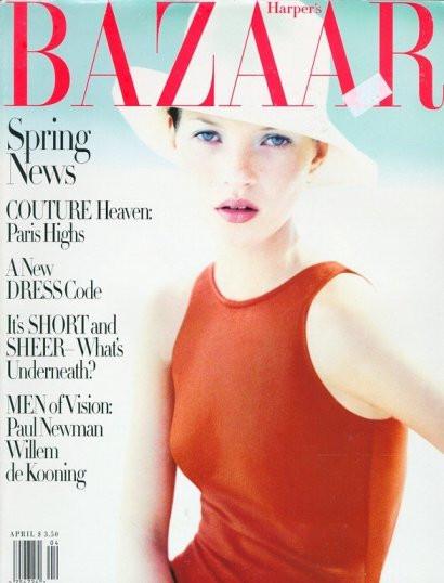 Кейт Мосс, наобложках главных модных журналов планеты. Изображение № 5.