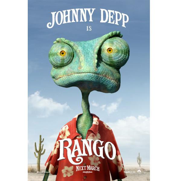 Джонни Депп в мультфильме Ранго. Изображение № 1.