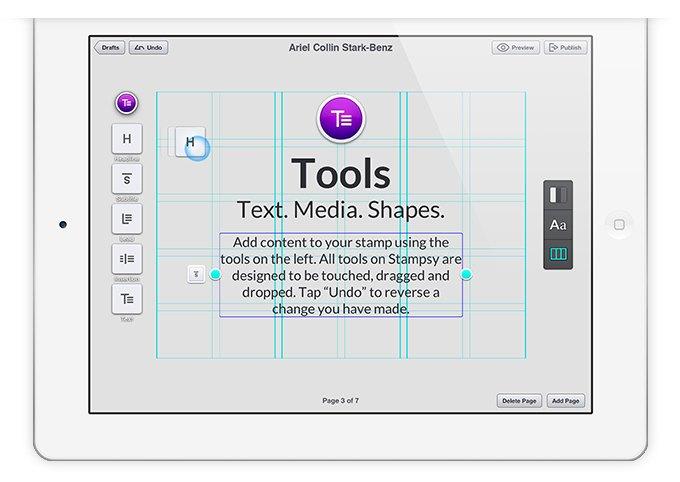 Издательская платформа Stampsy для iPad. Изображение № 5.