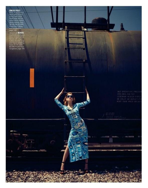 Съёмка: Жиневье ван Синус для Bergdorf Goodman. Изображение № 10.