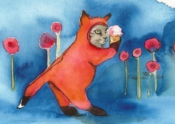 Изображение 4. Amber Alexander - животные, сияющие акварелью.. Изображение № 4.