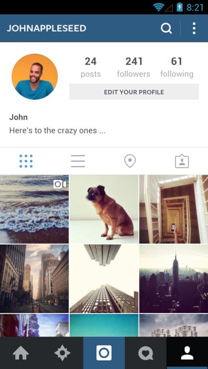 Instagram для Android стал «плоским». Изображение № 6.