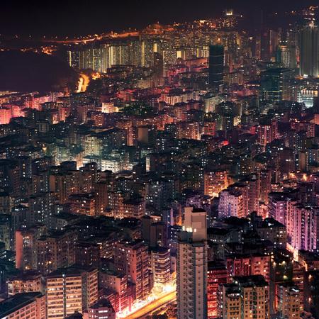 Мегаполисы ночью Гонконг, Дубаи, Нью-Йорк, Шанхай. Изображение № 7.