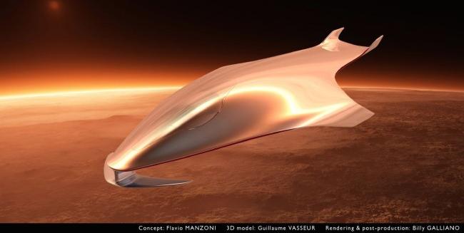 Дизайнер Ferrari создал модель космического корабля. Изображение № 2.