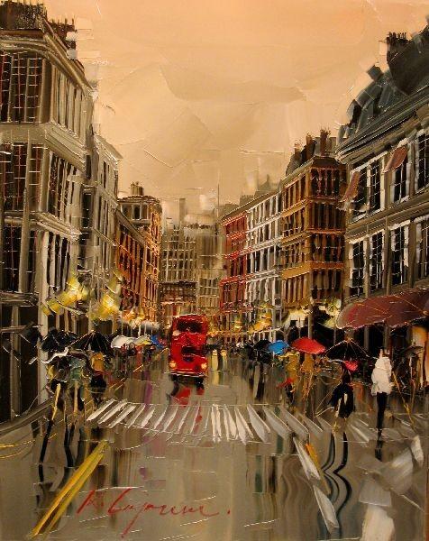 Красные зонтики художника Kal Gajoum. Изображение № 20.