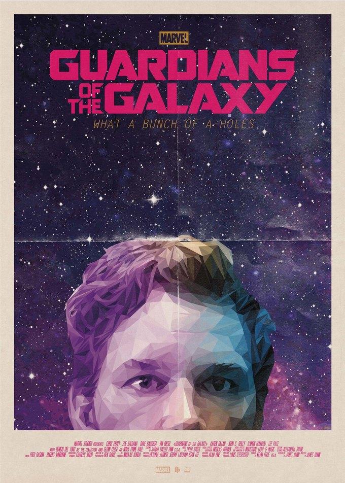 Опубликованы 44 фанатских постера к «Стражам Галактики». Изображение № 17.