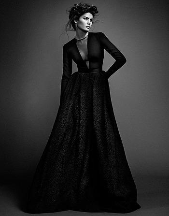 Черная жемчужина: Изабели Фонтана в монохромной съемке. Изображение № 2.