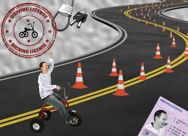 Мне приснилось, что я сдал экзамен и получил водительские права на трехколесный велосипед.. Изображение № 1.