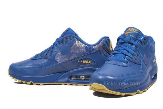 Nike WMNS Air Max 90 – Stormblue – Jersey Gold. Изображение № 2.
