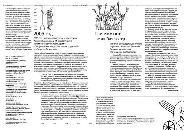 Изображение 1. Реплика. Газета о театре и других искусствах. Новый номер... Изображение № 1.