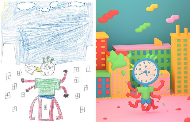 Художники создали монстров наоснове детских рисунков. Изображение № 11.
