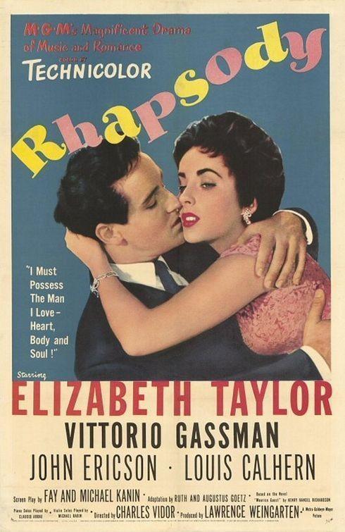 Rhapsody (1954 )Charles Vidor, Elizabeth Taylor, Vittorio Gassman and John Ericson.. Изображение № 14.