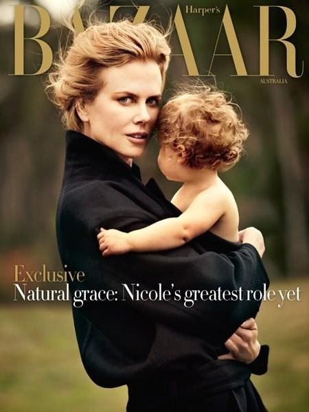 Николь Кидман на обложке Harper's Bazaar Australia. Изображение № 1.