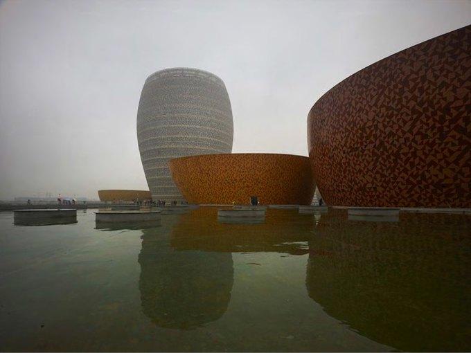 Архитектура дня: музей керамики со зданиями в форме чаш в Китае. Изображение № 7.