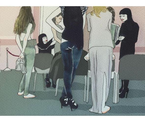 Изображение 16. Что происходит, когда иллюстратора пускают на модный показ.. Изображение № 15.