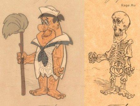 Скелеты мультяшек. Изображение № 4.