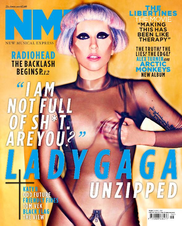 Изображение 1. Леди Гага снялась для NME.. Изображение № 1.