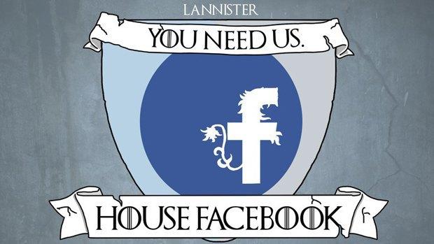 Социальные сети стали домами «Игры престолов». Изображение № 1.