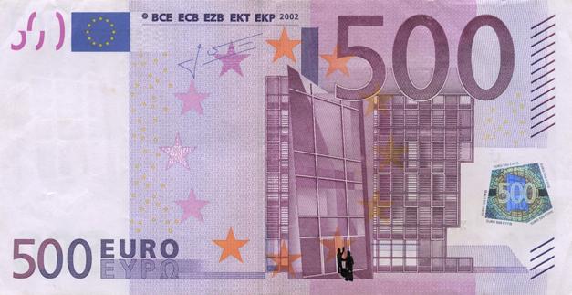 Художник в знак протеста изрисовал банкноты на 3555 евро. Изображение № 5.