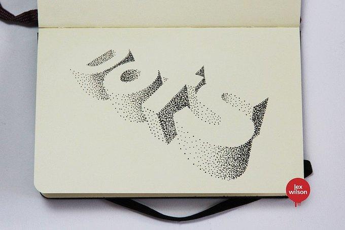 Иллюстратор рисует трёхмерные шрифты . Изображение № 10.