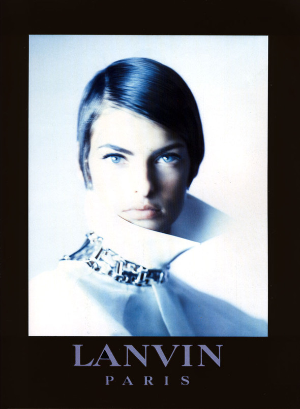 Архивная съёмка: Линда Евангелиста для Lanvin, 1990. Изображение № 4.